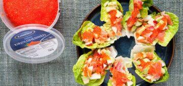 Kylmäsavukirjolohi-salaattitacot