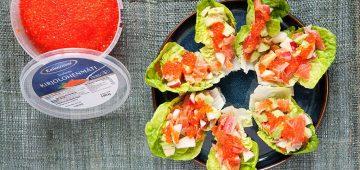 Kylmäsavukirjolohi-salaattitacot resepti