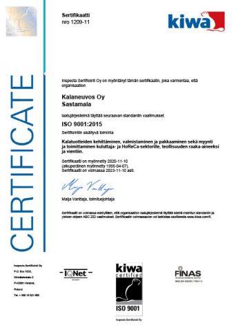 ISO9001 Kalaneuvos