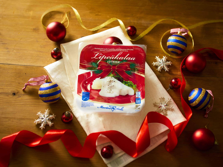 Lipeäkala on joulun kalapöydän perinteinen herkku